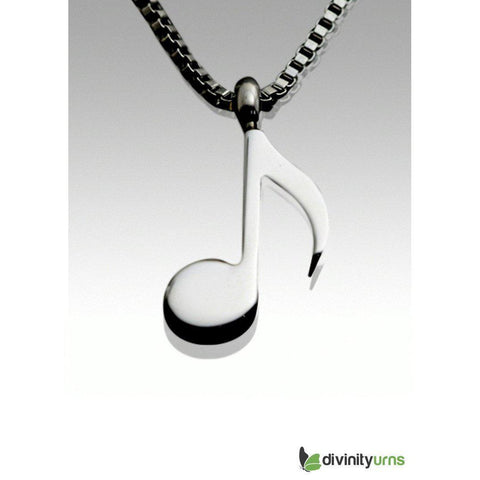 Musical Note Pendant, [product_type] - Divinity Urns