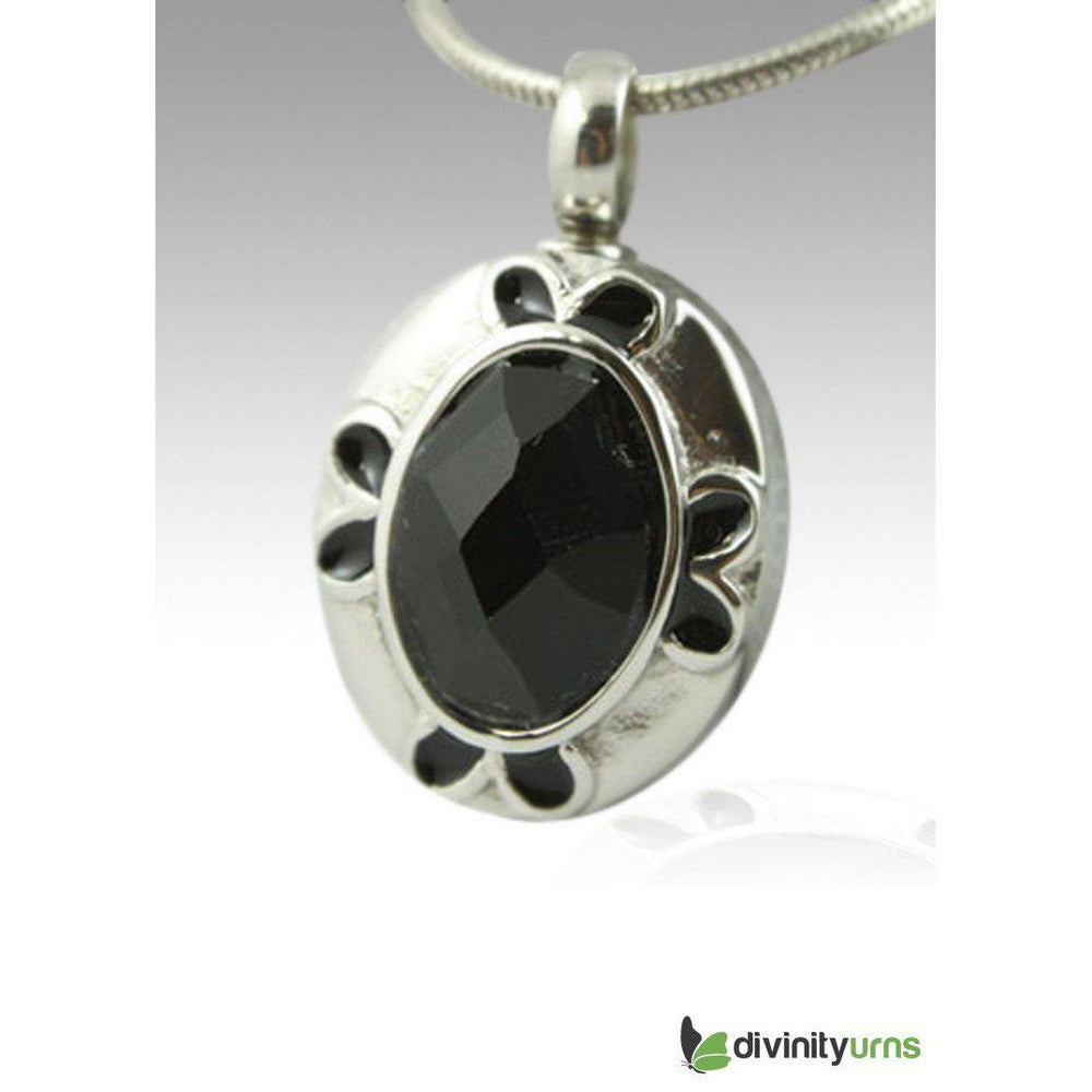 Oval Gem Cremation Keepsake Pendant