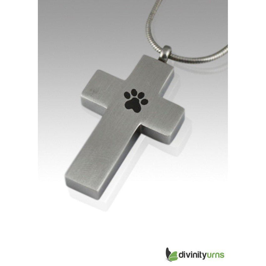 Paw Cross Cremation Keepsake Pendant-Divinity Urns