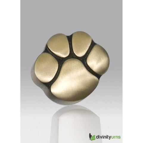 Paw Keepsake Cremation Urn- Gold, Dog Urn - Divinity Urns.