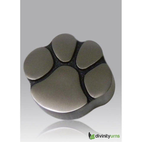 Paw Keepsake Cremation Urn - Pewter, Dog Urn - Divinity Urns.