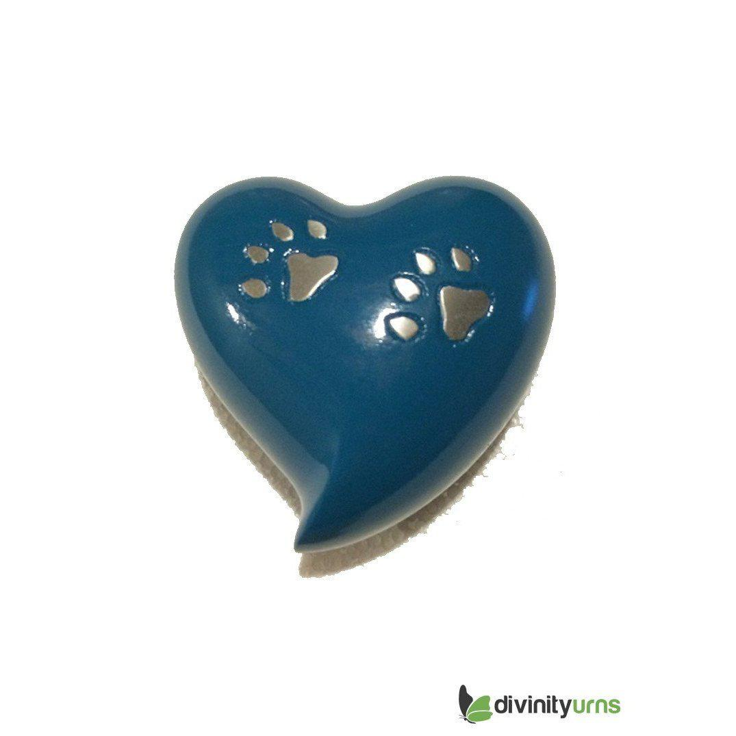Paw Pet Keepsake Cremation Urn-Blue, Pet Urn - Divinity Urns