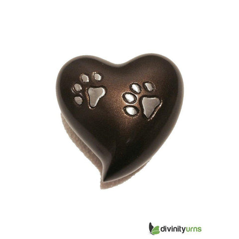 Paw Pet Keepsake Cremation Urn - Brown, Pet Urn - Divinity Urns