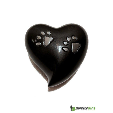 Paw Pet Keepsake Cremation Urn - Grey, Pet Urn - Divinity Urns