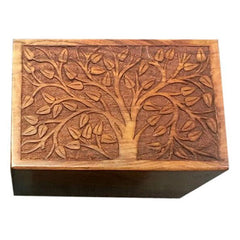 Solid Rosewood Cremation Urn - Real Tree Design, Adult Urn - Divinity Urns.
