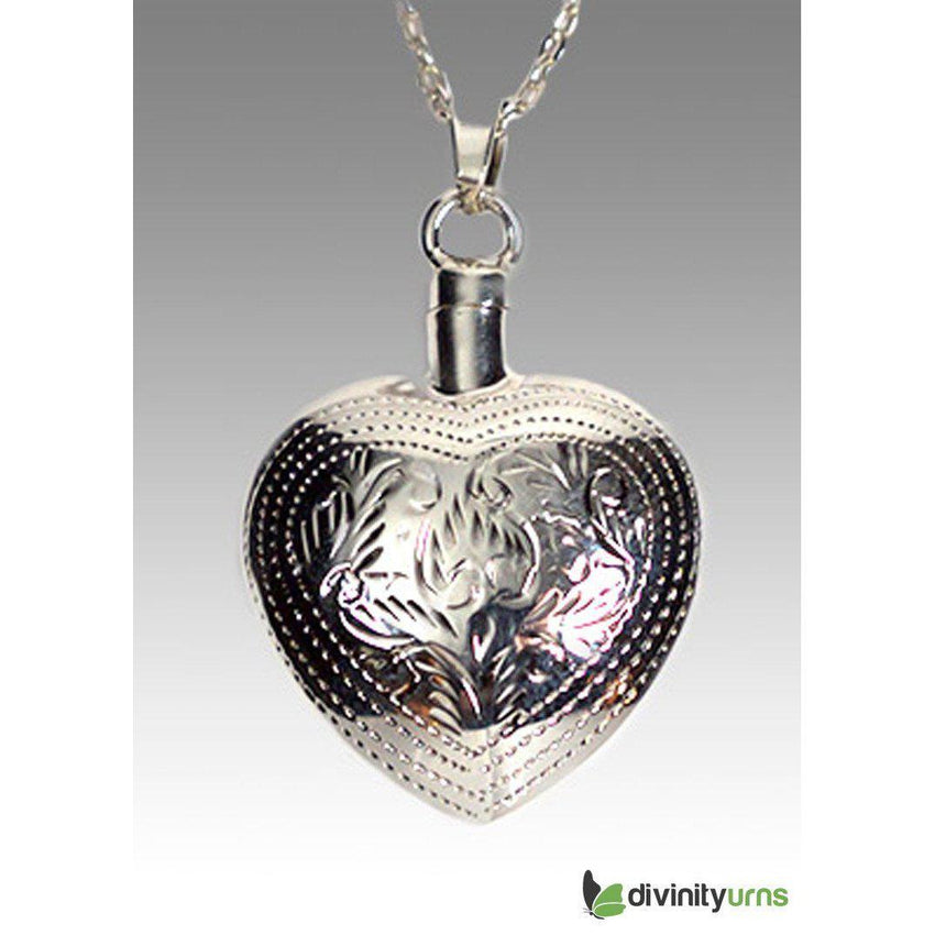 Silver Art Heart Jewelry-Divinity Urns