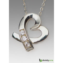 Silver Caring Heart Jewelry, [product_type] - Divinity Urns