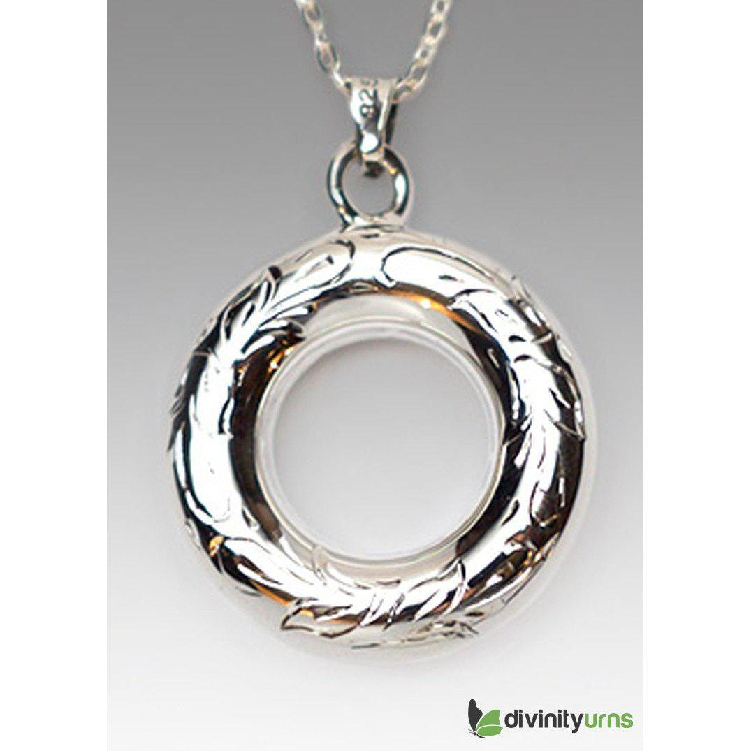 Silver Circle Of Love Jewelry, [product_type] - Divinity Urns