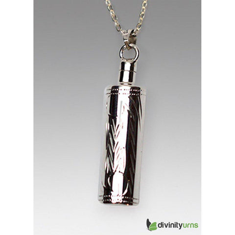 Silver Etched Cylinder Jewelry, [product_type] - Divinity Urns