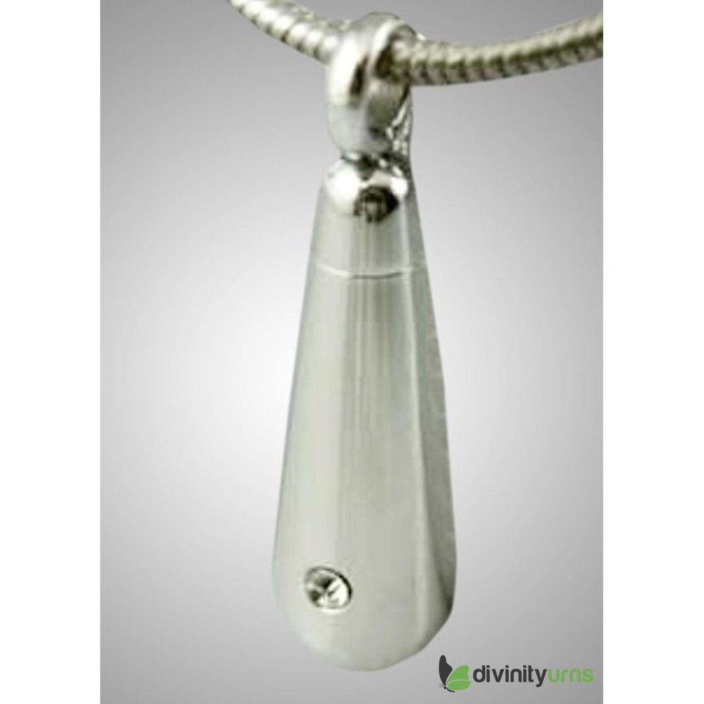Silver Loving Tear Drop Diamond Jewelry, [product_type] - Divinity Urns