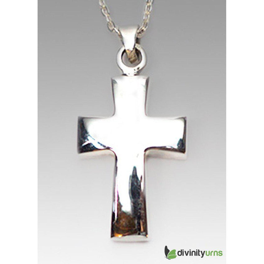 Silver Polished Cross Jewelry--Divinity Urns