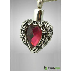 Silver Red Heart Jewelry, [product_type] - Divinity Urns