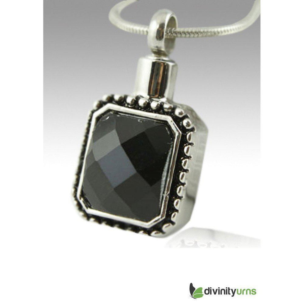 Square Gem Cremation Keepsake Pendant