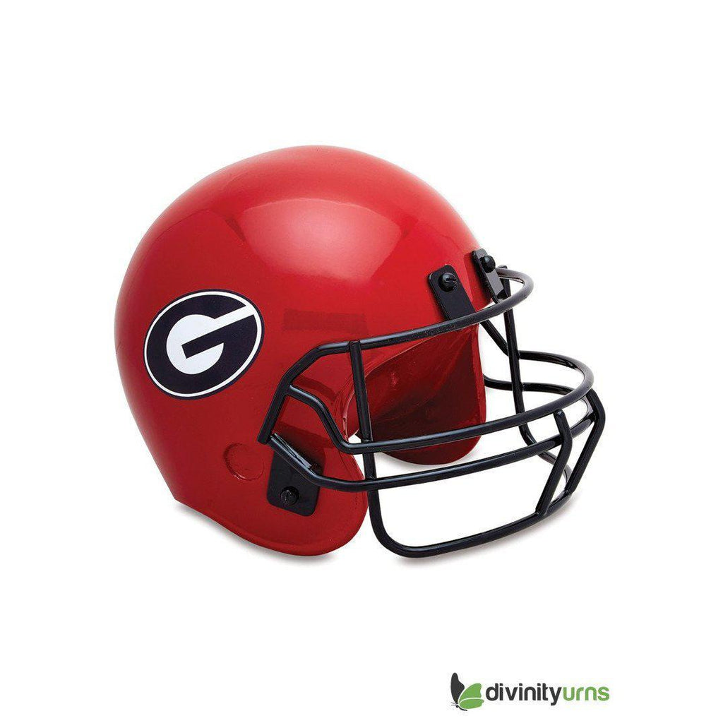 University Of Georgia Football Helmet Sports Cremation Urn, Sports Urn - Divinity Urns.