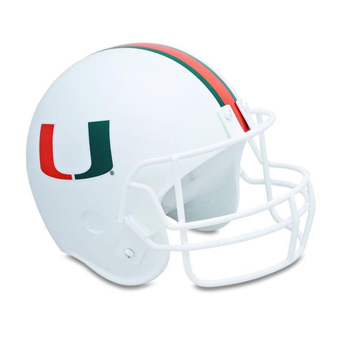 University Of Miami Football Helmet Sports Cremation Urn, Sports Urn - Divinity Urns