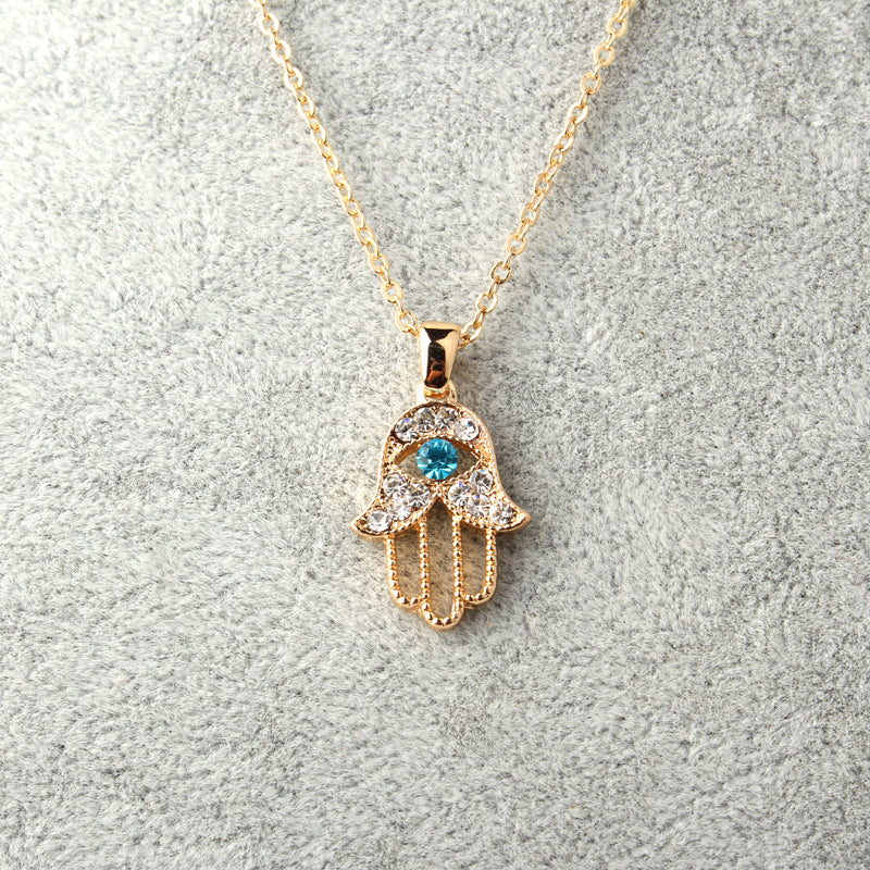 Evil Eye Hand Hamsa Pendant Necklace