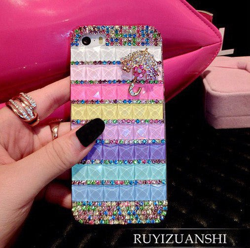 Diamond Lips Rhinestone Cover For IPhone 7 Plus 7 6 6s Plus 5 5s Se 4 4s 5c 3G 3GS