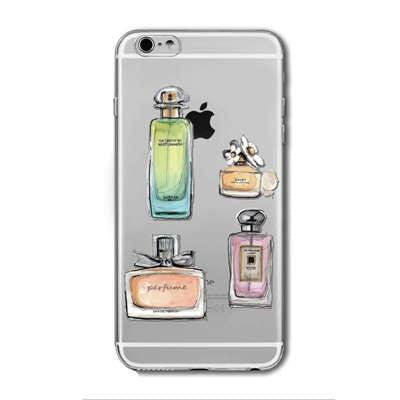 Lipstick, Nail Polish, Perfume Transparent Soft Silicone Cover For Apple IPhone 6Plus 6sPlus