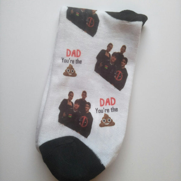 Dad your the shit photo socks