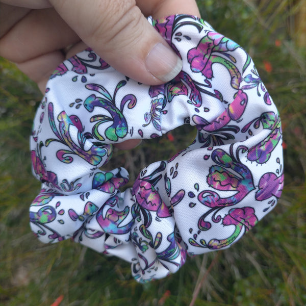 Purple hidden penis  Scrunchie or headband