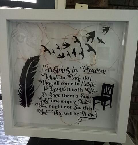 Christmas in heaven light up frame