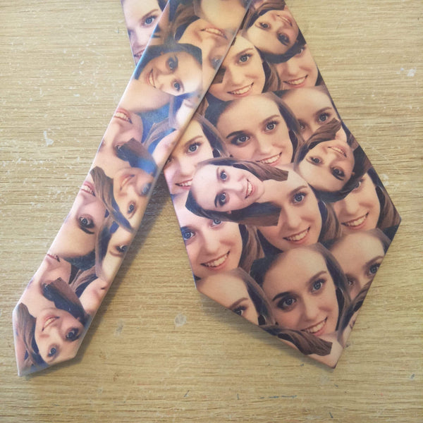 Photo face tie-logo tie