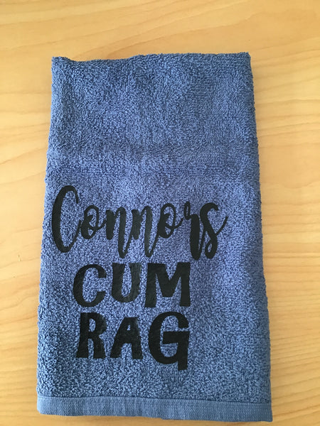Personalised cum rag towel or gift set