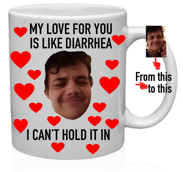 My love for you photo mug