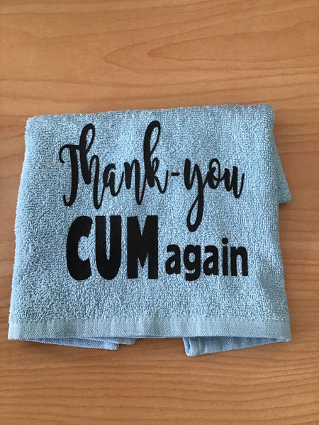 Thank you CUM again towel or gift set