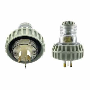 Plug Top Male 10A 3 Flat Pins IP66