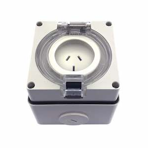 SOCKET OUTLET FLAT PIN IP66