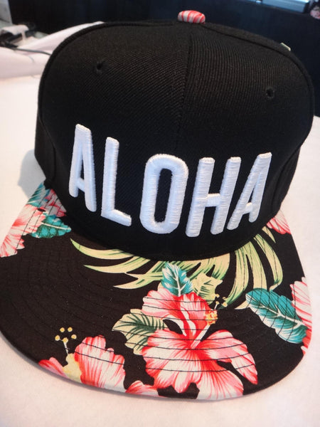 Aloha Snapbacks, Snap back Hats, Flat Billed Hat | Rastaheadquarters.net