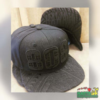 Photo of the Blackout 808 Hawaii Area Code Black On Black Snapback Hat | Rasta Headquarters