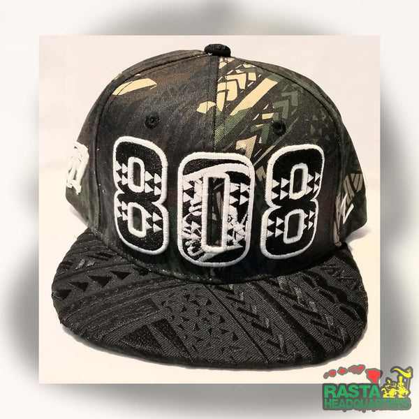 808 Snap Back Hat, 808 Snapbacks, 808 Caps, Custom Hawaii Snapbacks | Rasta Headquarters