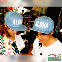 Aloha Snapback Denim Cap, Denim Hat, Jean Snapback, Rasta Headquarters