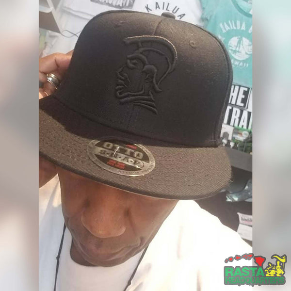Black Embroidered King Kamehameha Snapback Hats - Rasta Headquarters