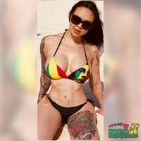 Bob Marley Big Face Swin Wear Women's Rasta Bikini, Rasta Headquarters