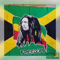 A Bob Marley Freedom Sarong Beach Wrap - Rasta Headquarters