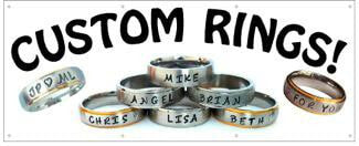 Custom Rings for Men and Women, Name Rings Great Accessories from Rasta Headquarters