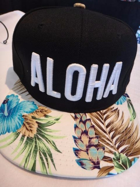 Floral Aloha Unique Snapbacks, Flower Print Bill | Rasta Headquarters