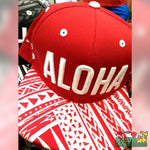 Rastaheadquarters-Hats-Aloha-_All_Red_Tribal_Snapbacks-Red-White
