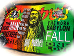 Bob Marley Babylon Love Sarong Beach Cover Up, Sarong Skirt, Sarong Wrap, Rasta Headquarters