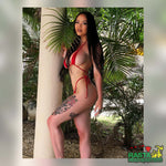 Red Tiny String Bikini, Swimsuit, Micro Bikini at Rasta Headquarters
