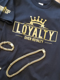 Loyalty Over Royalty Short Sleeve T-shirt White/Black