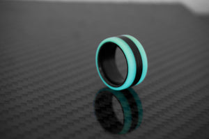 Aqua Oracle Carbon Fiber Lume Ring