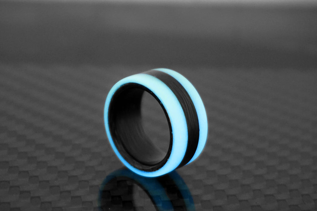 Cobalt Oracle Carbon Fiber Lume Ring