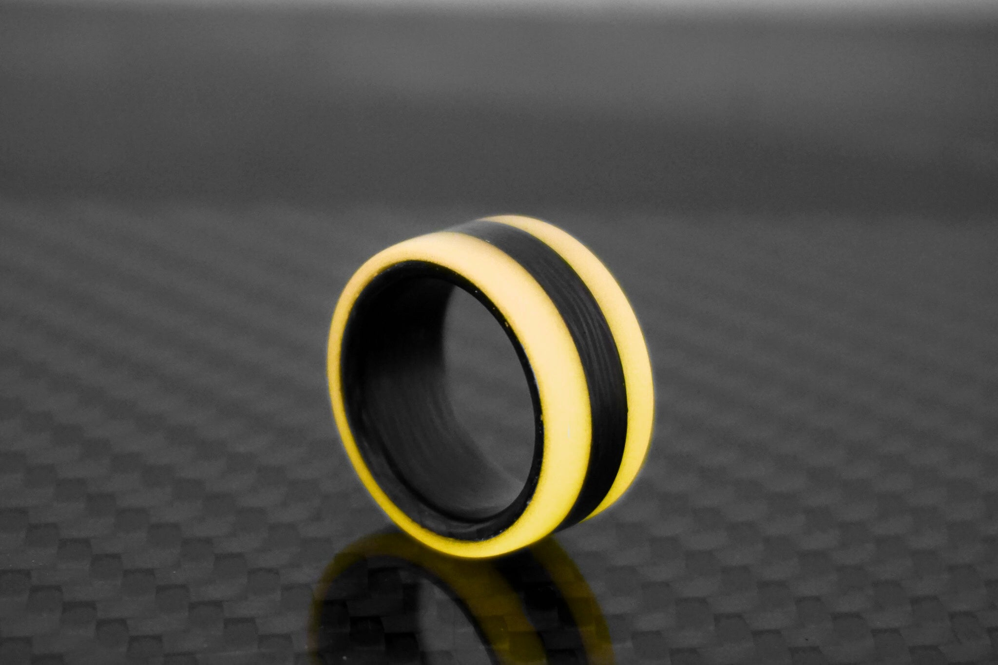 Coral Oracle Carbon Fiber Lume Ring