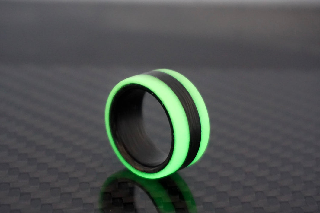 Green Oracle Carbon Fiber Lume Ring