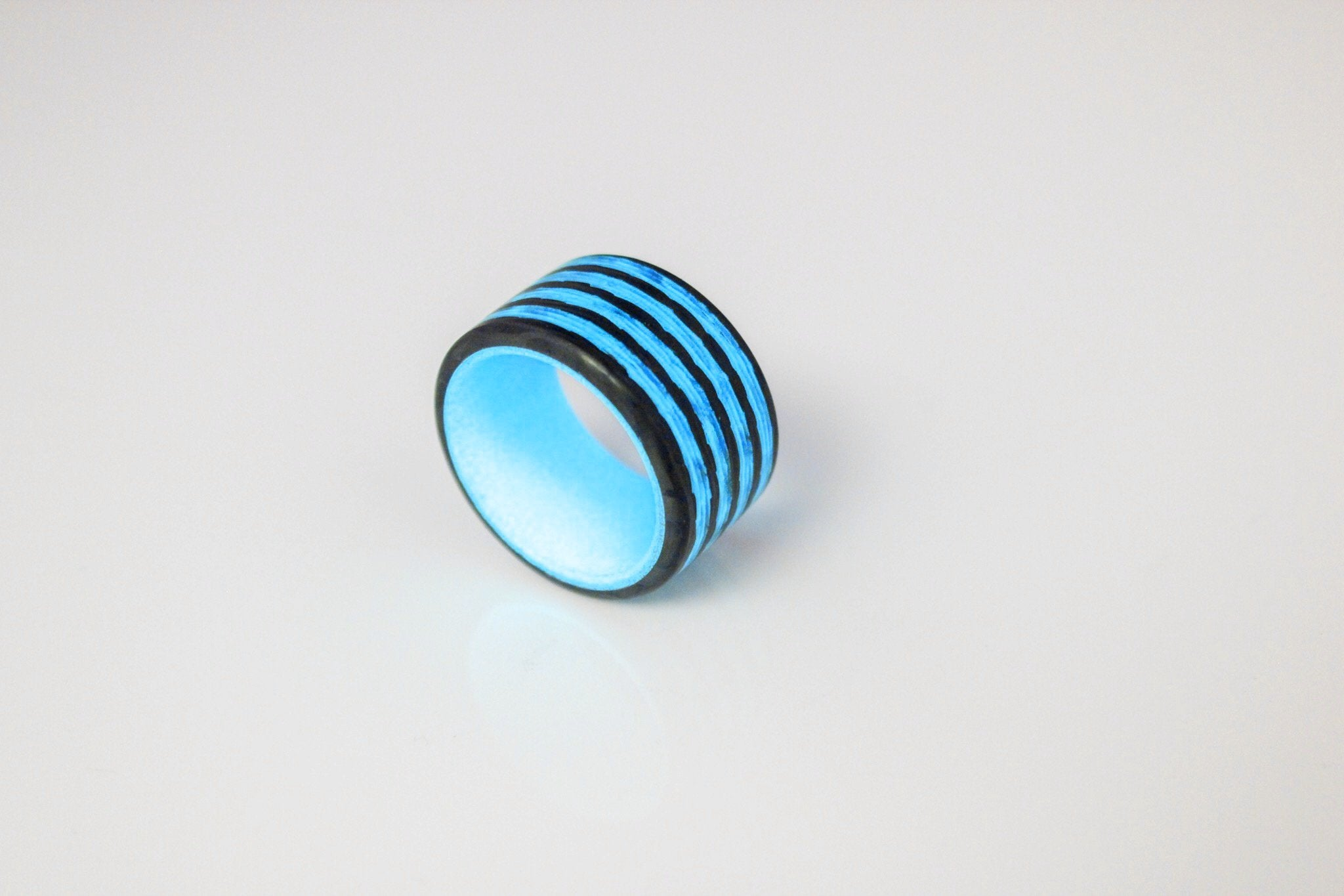 Blue Saturn Carbon Fiber Ring