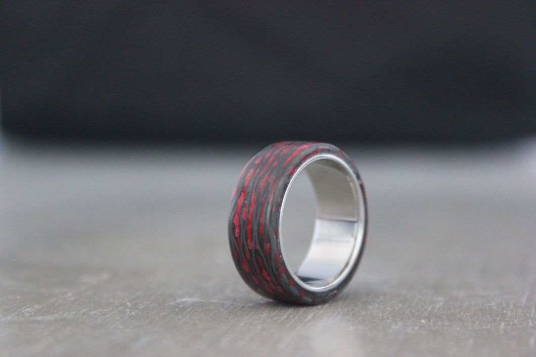 Fire Alien Carbon and Titanium Ring